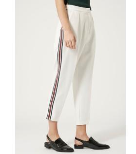 £42 - Ribbed Side Stripe Peg Leg Trousers