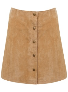 Miss Selfridge Suede Popper Skirt £65.00