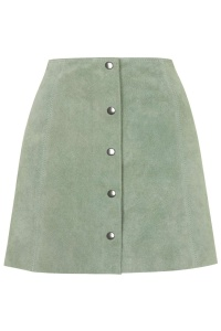 Topshop Suede Button Front A-line Skirt £75.00