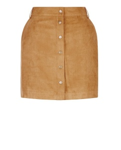 New Look Tan Suedette Button Front Pencil Skirt £17.99