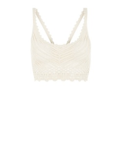New Look Cream Crochet Bralet £14.99