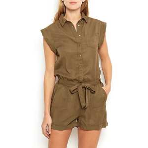 New Look Tie Waist Shirt Playsuit £24.99