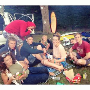 Me, Jonny, Archie, Toran, Alice, Alice, Aaron and Ed