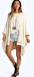 Boohoo Open Stitch Border Knitted Cape £20.00