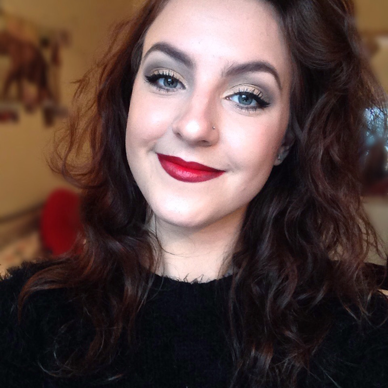 Christmas Makeup Gold Eye And Red Lips Ft Naked 2 Palette Fran