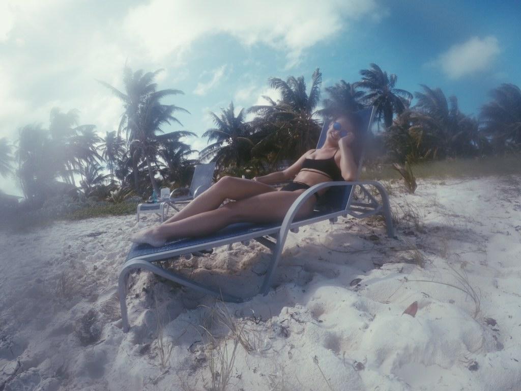 exuma beach chilling
